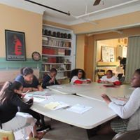 Photo taken during Sunday school in the Ming Room at 149 Roxbury Street, 2018